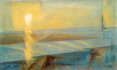 lyonel feininger, sunset