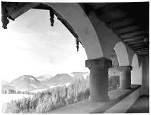 hitlers berghof, snowy view