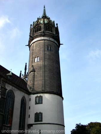 castle church tower, wittenberg grmany