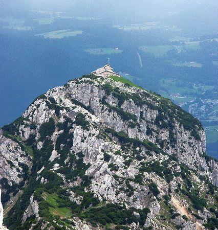 hitlers eagles nest, view of kehlstein