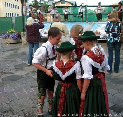 berchtesgaden germany, bavarian children in tracht,