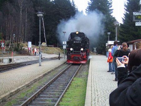 steam train, harz mountains, schierke station