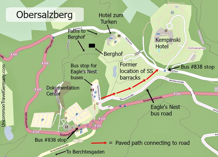 Map of the Obersalzberg above Berchtesgaden