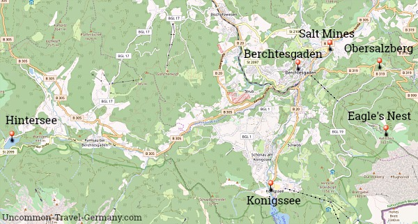 Map of Berchtesgaden Area