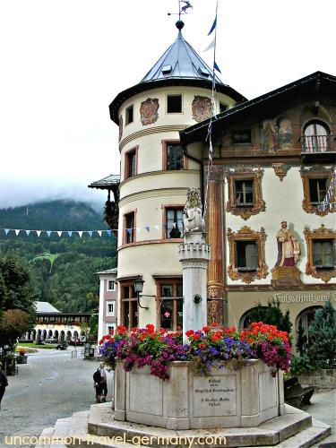 berchtesgaden fountain, town center