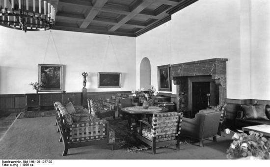 great room, hitlers berghof