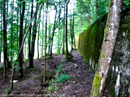 rear retaining wall, berghof ruins, obersalzberg