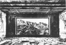 berghof window ruins, untersberg view