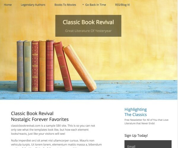 Example of books template SBI