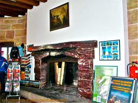 eagles nest germany, mussolinis fireplace
