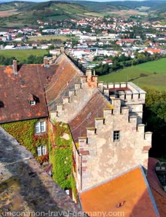 view of hammelburg, castle saaleck