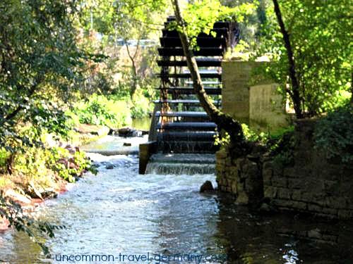 mill and stream, hammelburg
