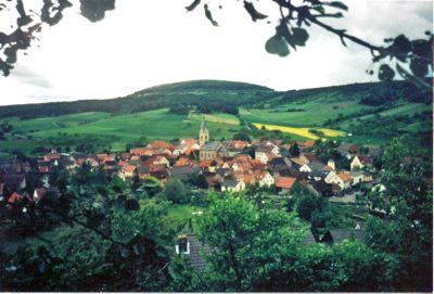 sodenberg mountain, obereschenbach, hammelburg