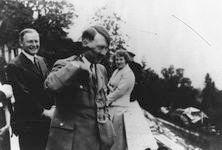 hitler with bird on shoulder, haus wachenfeld