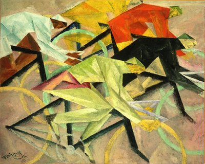 lyonel feininger, bicycle race