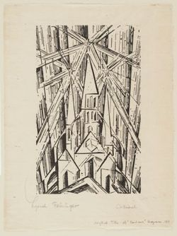 lyonel feininger, cathedral of socialism