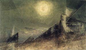 lyonel feininger, lunar web