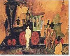 lyonel feininger, old locomotive