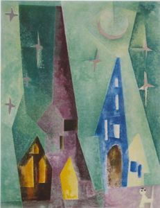lyonel feininger, silver constellation