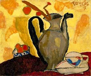 lyonel feininger, still life with can