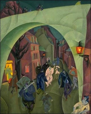 lyonel feininger, green bridge II