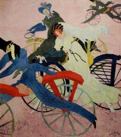lyonel feininger, velocipedists