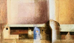 lyonel feininger, village 1927