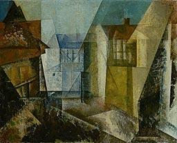 lyonel feininger, village street