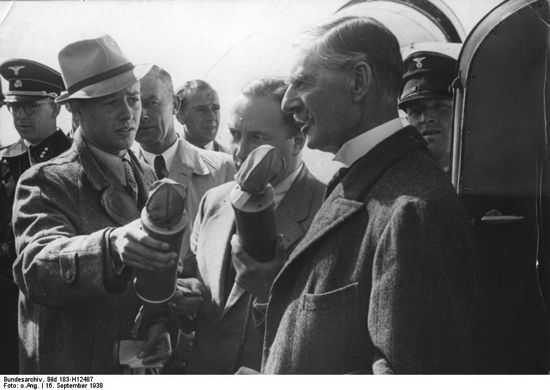chamberlain interviewed in munich after meeting with hitler
