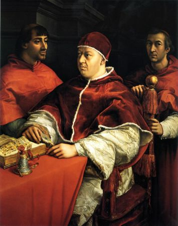 pope leo X, raphael, martin luther biography