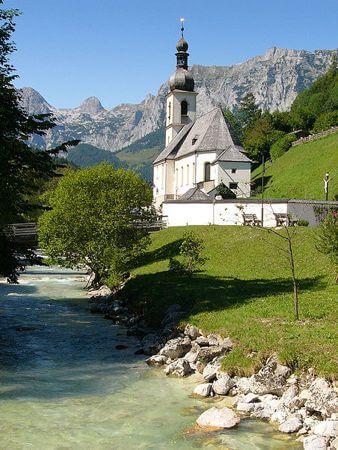 ramsau, bavarian church, berchtesgaden