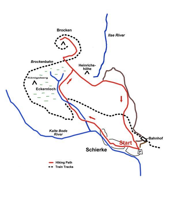 schierke to brocken map