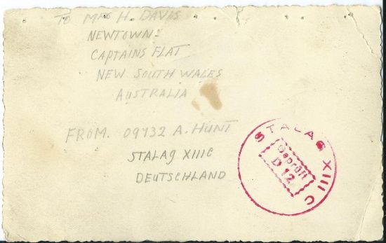 stalag 13c camp official stamp