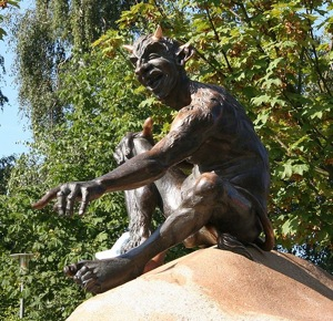 devil statue, hexentanzplatz, thale
