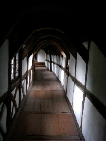 passageway in burghof, wartburg castle
