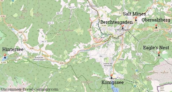 Map of Berchtesgaden Area