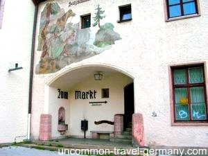 berchtesgaden germany, train station, route to town