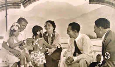 hitler, goebbels and children, berghof