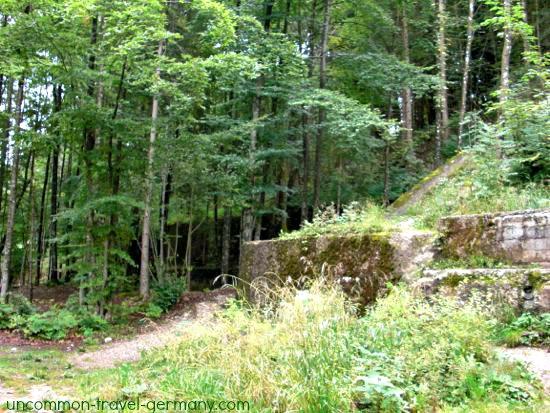 rear walls of the berghof ruins
