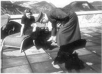 hitler and eva braun with her scotties, berghof