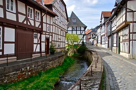 goslar fachwerk houses, harz mountinas