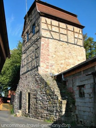 tower on medieval wall, hammelburg