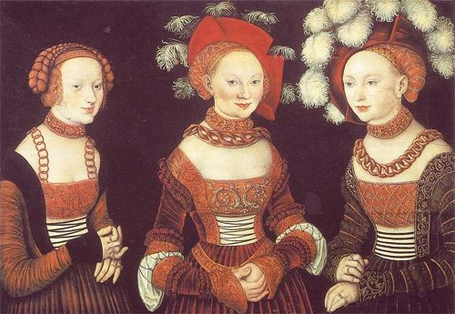 lucas cranach the elder, painting of saxon pricesses