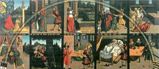 ten commandments, lucas cranach, wittenberg