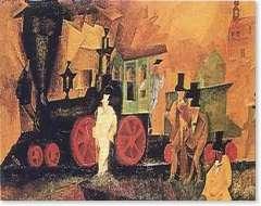 lyonel feininger, old locomotive