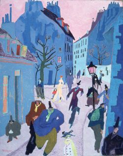 lyonel feininger, in a village near paris