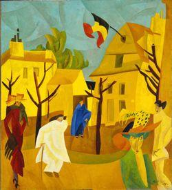 lyonel feininger, yellow street
