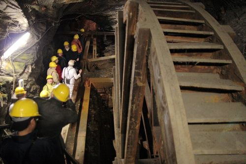 rmmelsberg mine tour, water wheel