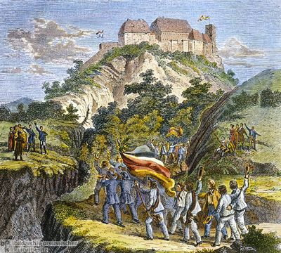 students rally, wartburg castle 1817