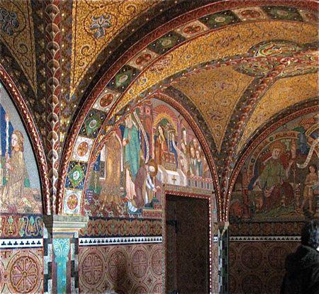 vaulted ceiling mosaics, wartburg castle